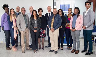 presentatives of the UWI, IGDS, EU and Civil Society organizations at EU Headquarters 2017